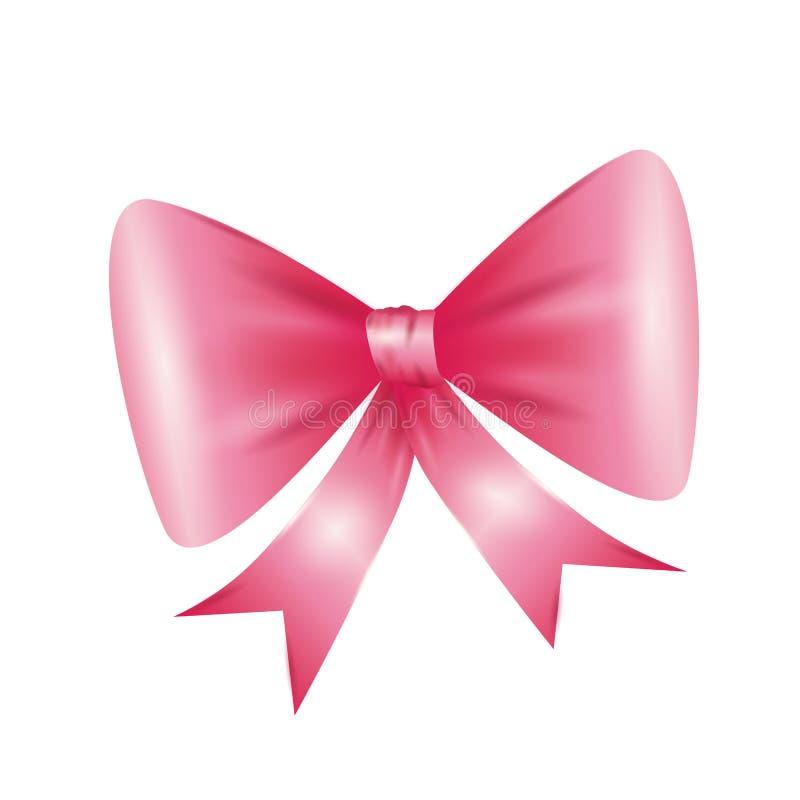 Icona rosa di cravatta a farfalla Progettazione del nastro Grafico di vettore royalty illustrazione gratis