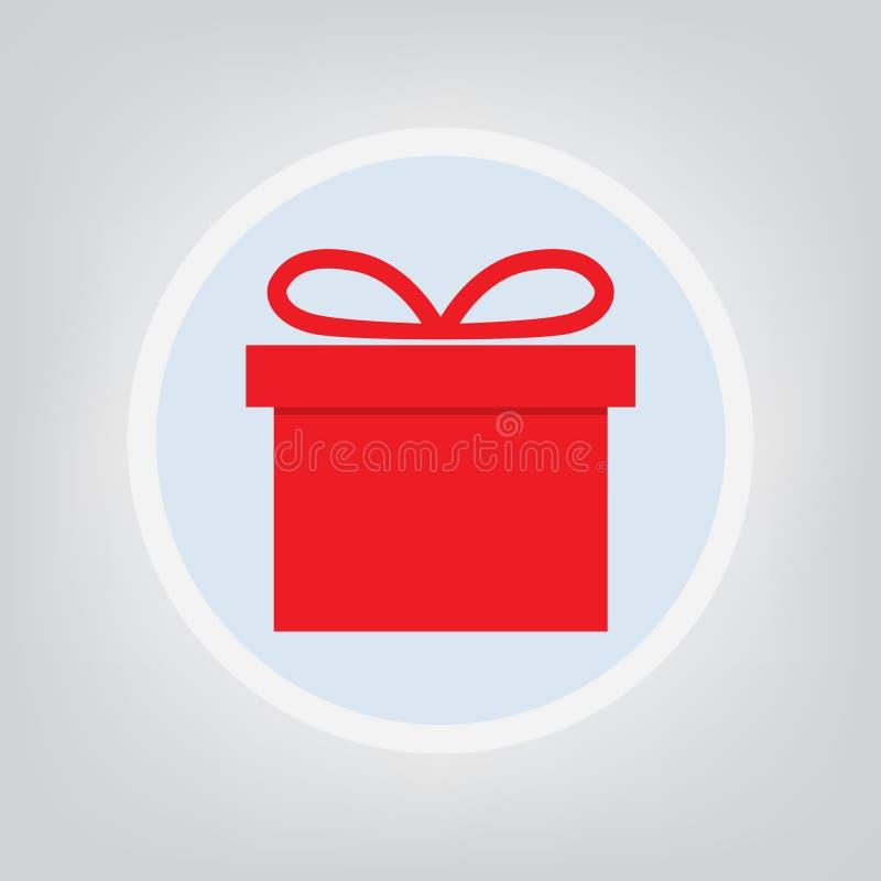 Icona rossa del contenitore di regalo illustrazione vettoriale