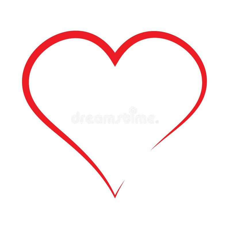 Icona rossa del cuore, icona di amore royalty illustrazione gratis