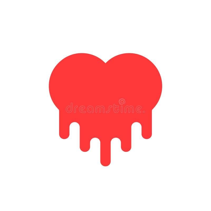 Icona rossa del cuore di emorragia royalty illustrazione gratis