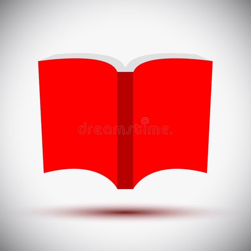 Icona rossa del libro - vettore illustrazione di stock