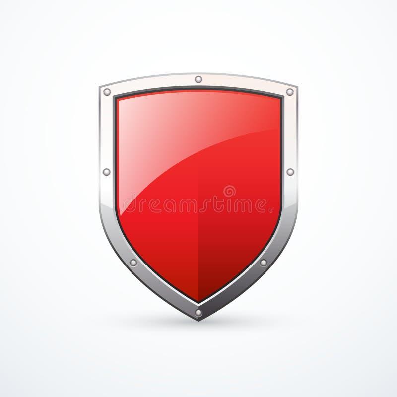 Icona rossa dello schermo di vettore illustrazione di stock