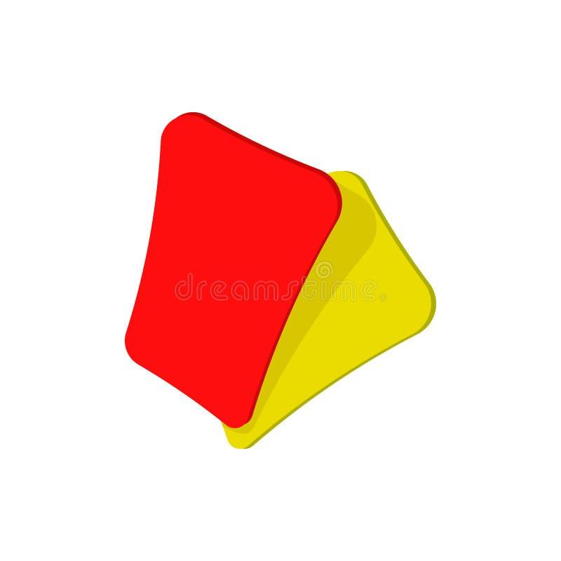 Icona rossa e gialla del fumetto della carta di calcio royalty illustrazione gratis