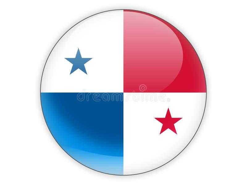 Icona rotonda con la bandiera del Panama royalty illustrazione gratis
