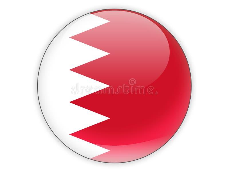 Icona rotonda con la bandiera della Bahrain illustrazione di stock