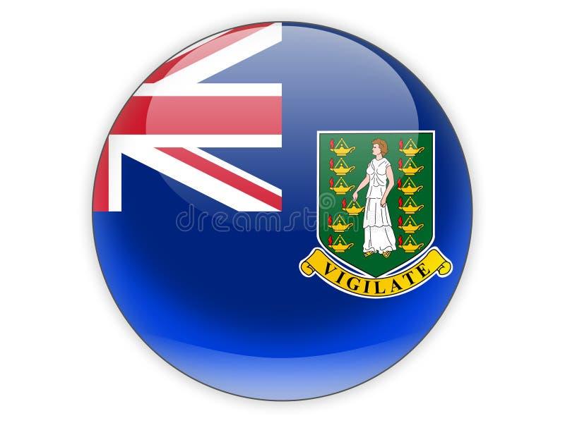 Icona rotonda con la bandiera delle Isole Vergini britanniche royalty illustrazione gratis