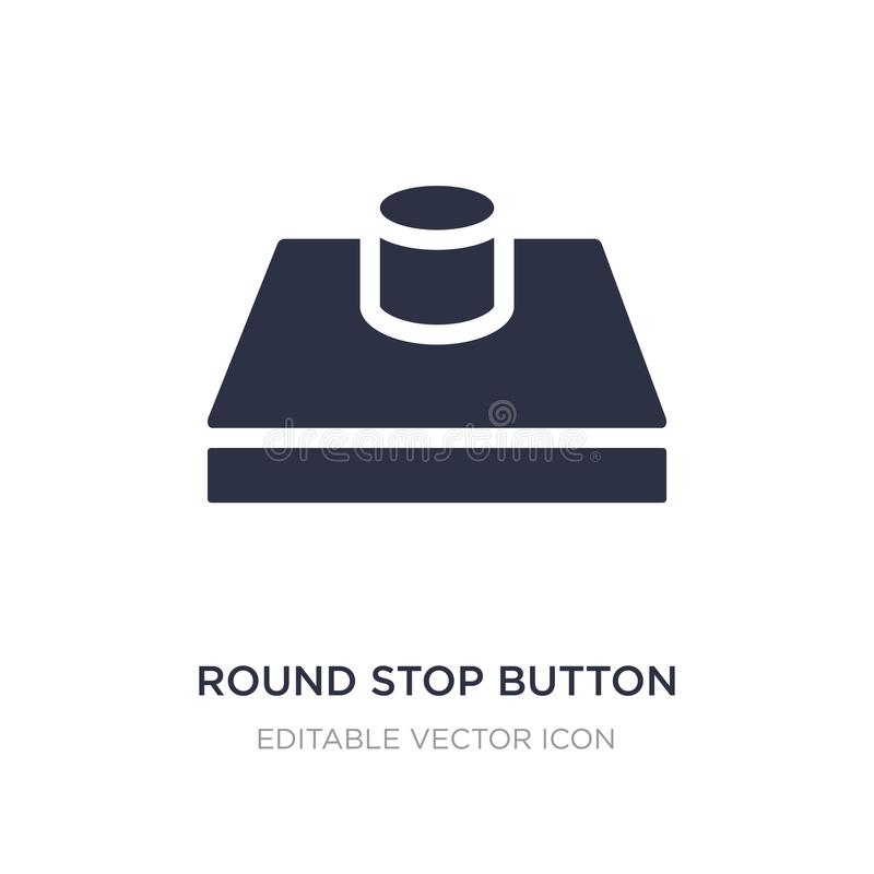 icona rotonda del tasto di arresto su fondo bianco Illustrazione semplice dell'elemento dal concetto di forme illustrazione vettoriale