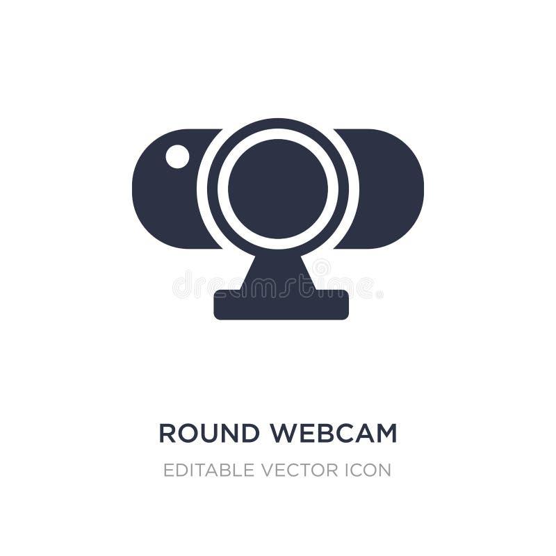 icona rotonda del webcam su fondo bianco Illustrazione semplice dell'elemento dal concetto del computer illustrazione vettoriale