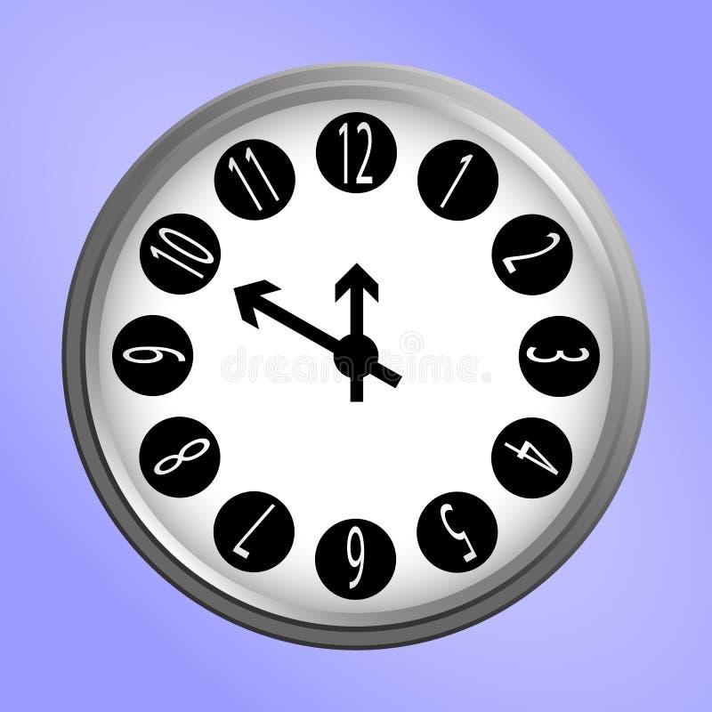 Icona rotonda dell'orologio di parete illustrazione di stock