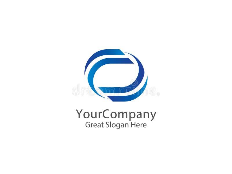 Icona rotonda di logo del cerchio di infinito astratto per l'affare, apps, SOF royalty illustrazione gratis