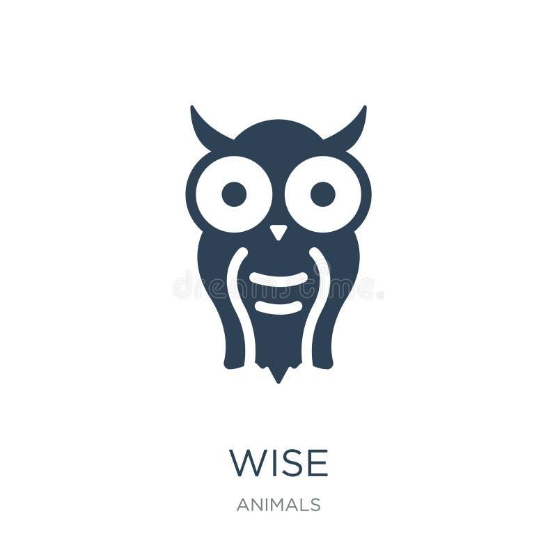 icona saggia nello stile d'avanguardia di progettazione icona saggia isolata su fondo bianco simbolo piano semplice e moderno del illustrazione di stock