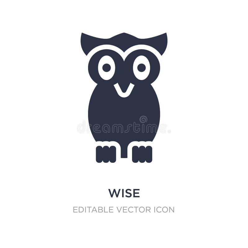 icona saggia su fondo bianco Illustrazione semplice dell'elemento dal concetto degli animali royalty illustrazione gratis