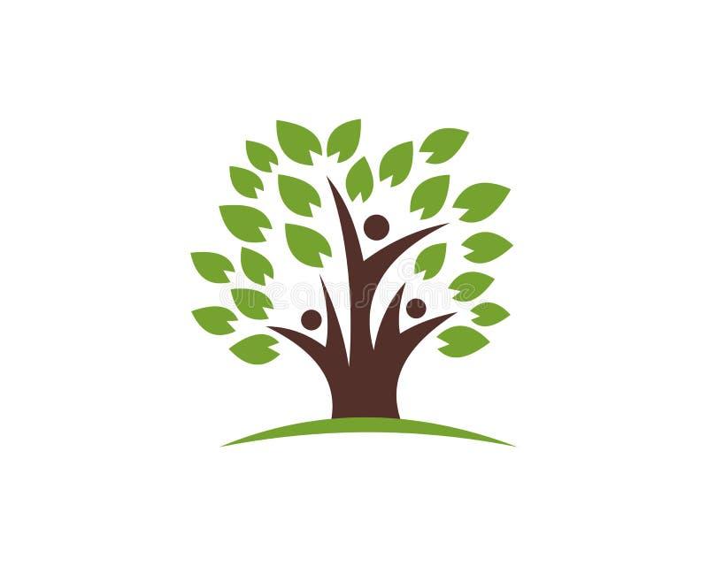 Icona sana di vettore del modello di logo di vita dell'albero illustrazione vettoriale
