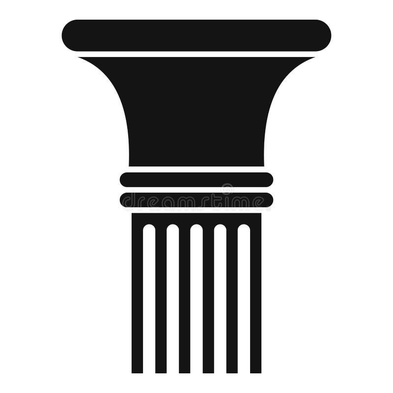 Icona scanalata in della colonna, stile semplice illustrazione vettoriale