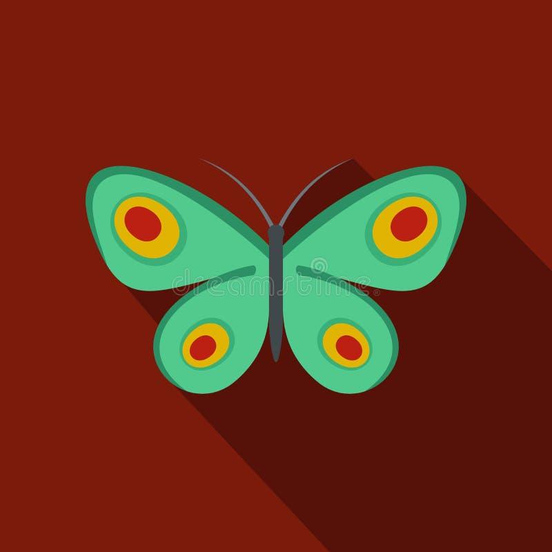 Icona sconosciuta della farfalla, stile piano illustrazione vettoriale