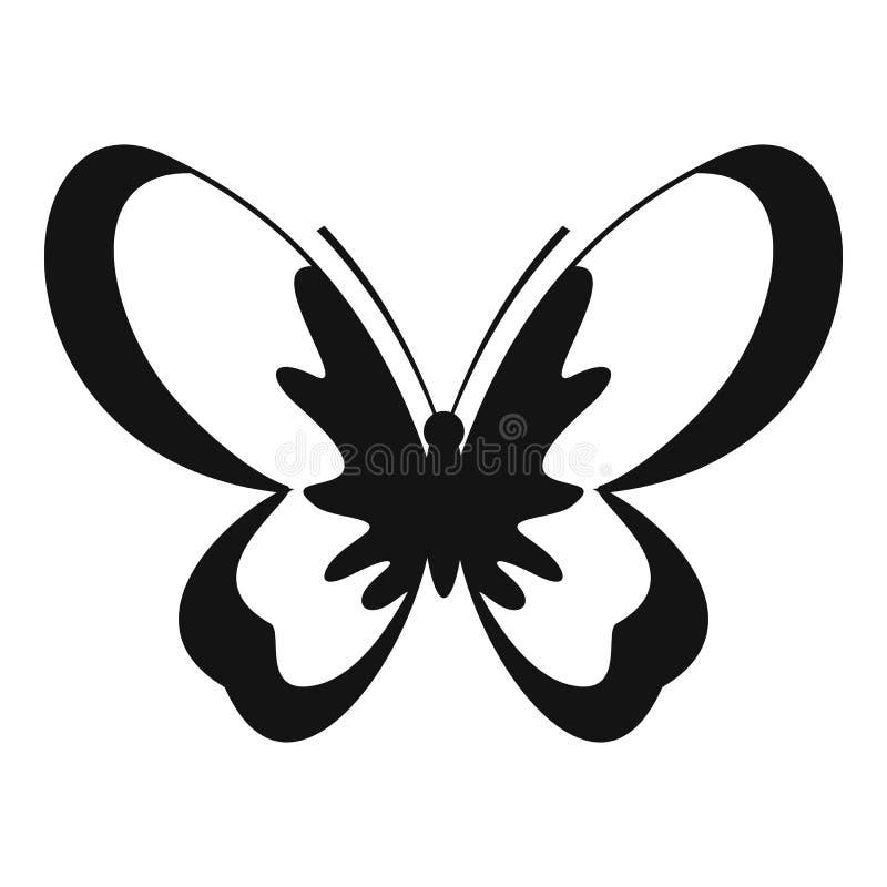 Icona sconosciuta della farfalla, stile semplice illustrazione vettoriale