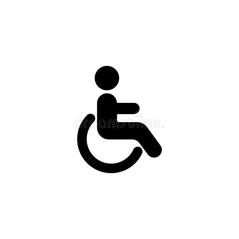 icona Segno disabile di simbolo illustrazione vettoriale