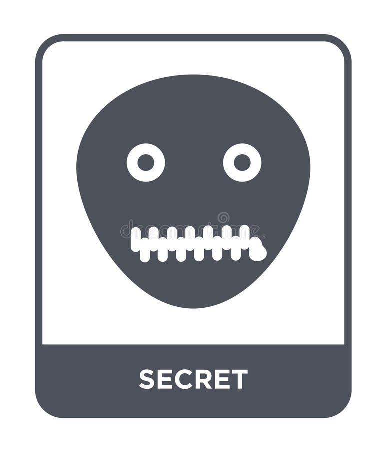 icona segreta nello stile d'avanguardia di progettazione icona segreta isolata su fondo bianco simbolo piano semplice e moderno d illustrazione vettoriale