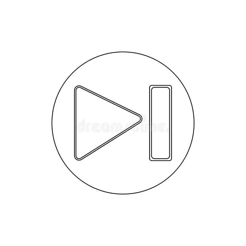 Icona seguente del profilo di salto del giocatore di media I segni ed i simboli possono essere usati per il web, logo, app mobile illustrazione vettoriale