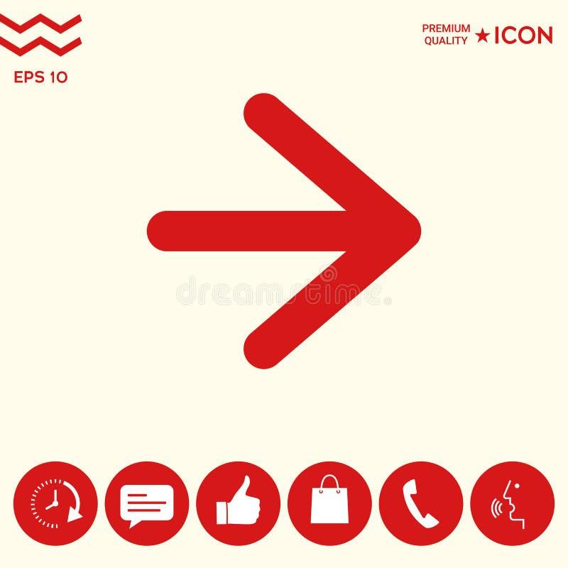 Download Icona Seguente Della Freccia Illustrazione Vettoriale - Illustrazione di posizione, sagittarie: 117982115