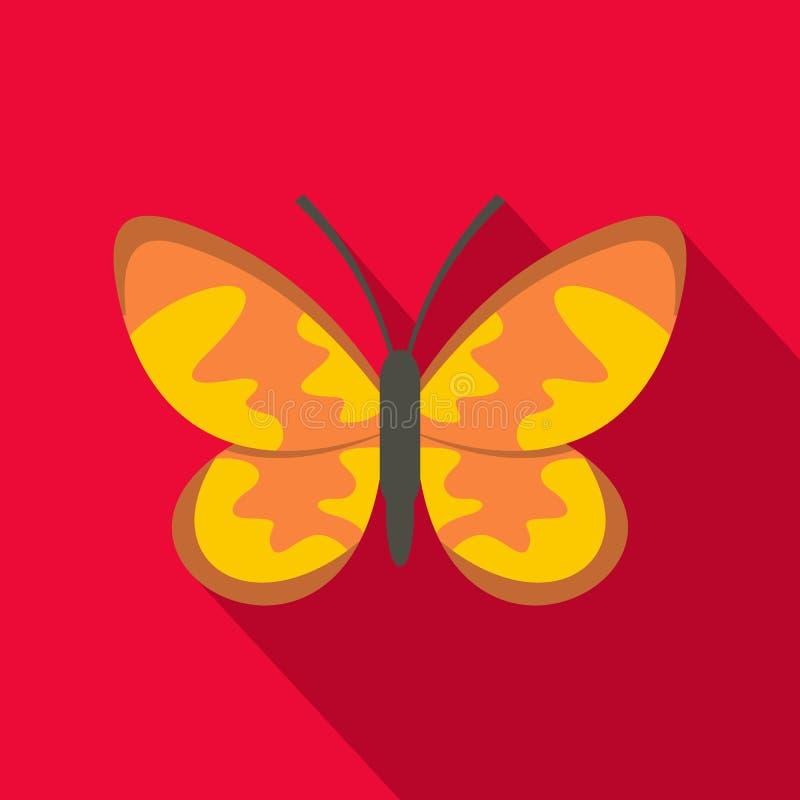 Icona selvaggia della farfalla, stile piano royalty illustrazione gratis