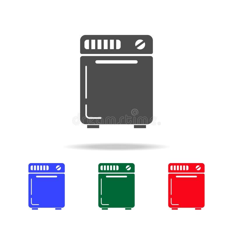 icona semiautomatica della lavatrice Elementi del lavaggio nelle multi icone colorate Icona premio di progettazione grafica di qu royalty illustrazione gratis