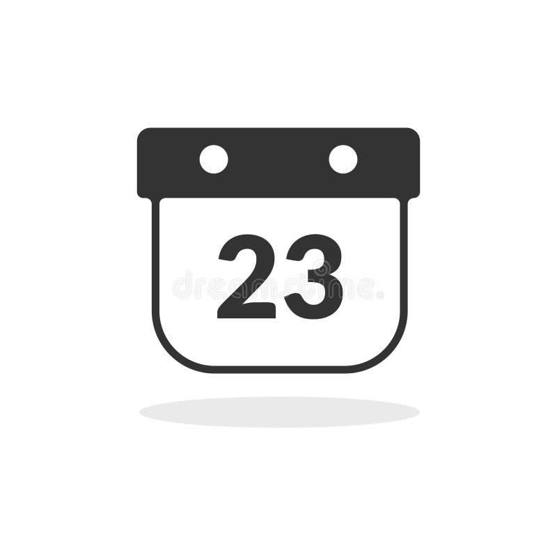 Icona semplice del calendario dell'interfaccia utente illustrazione vettoriale