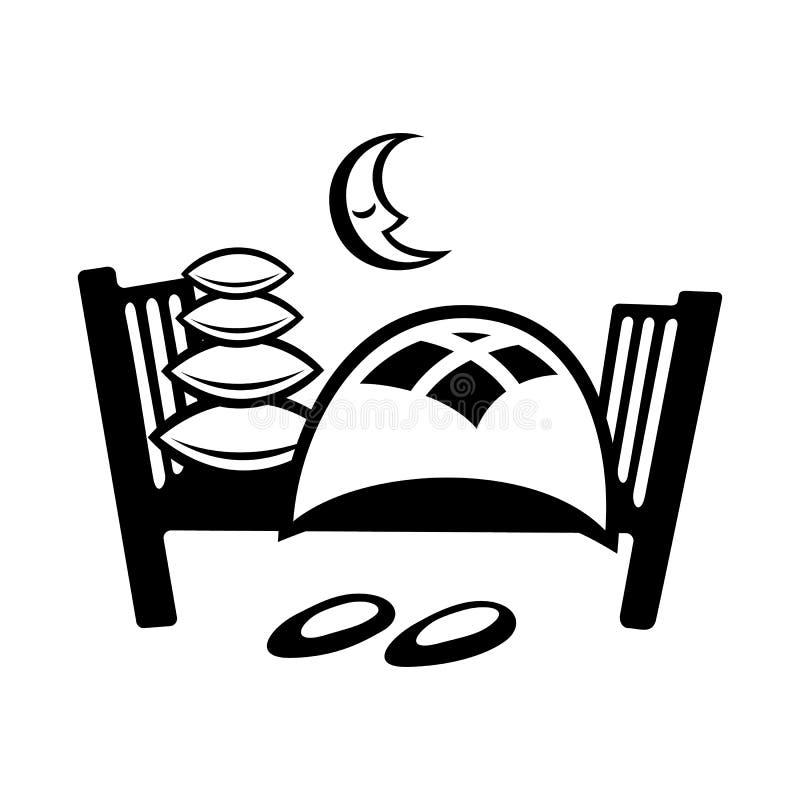 Icona semplice del letto illustrazione di stock