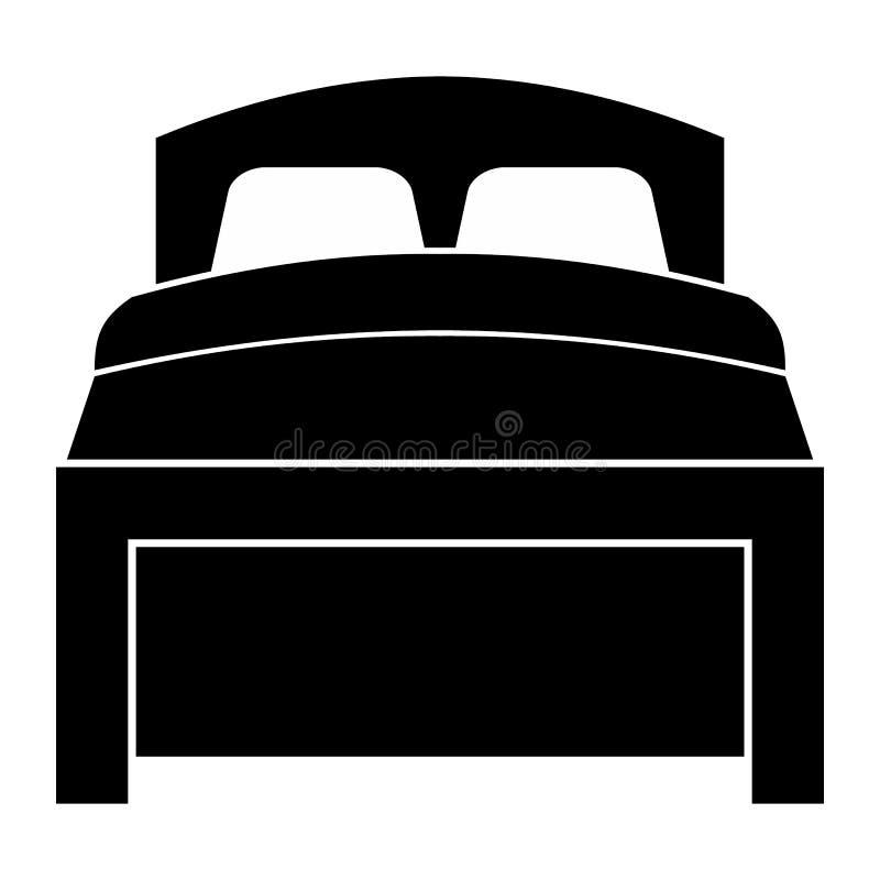 Icona semplice del letto royalty illustrazione gratis