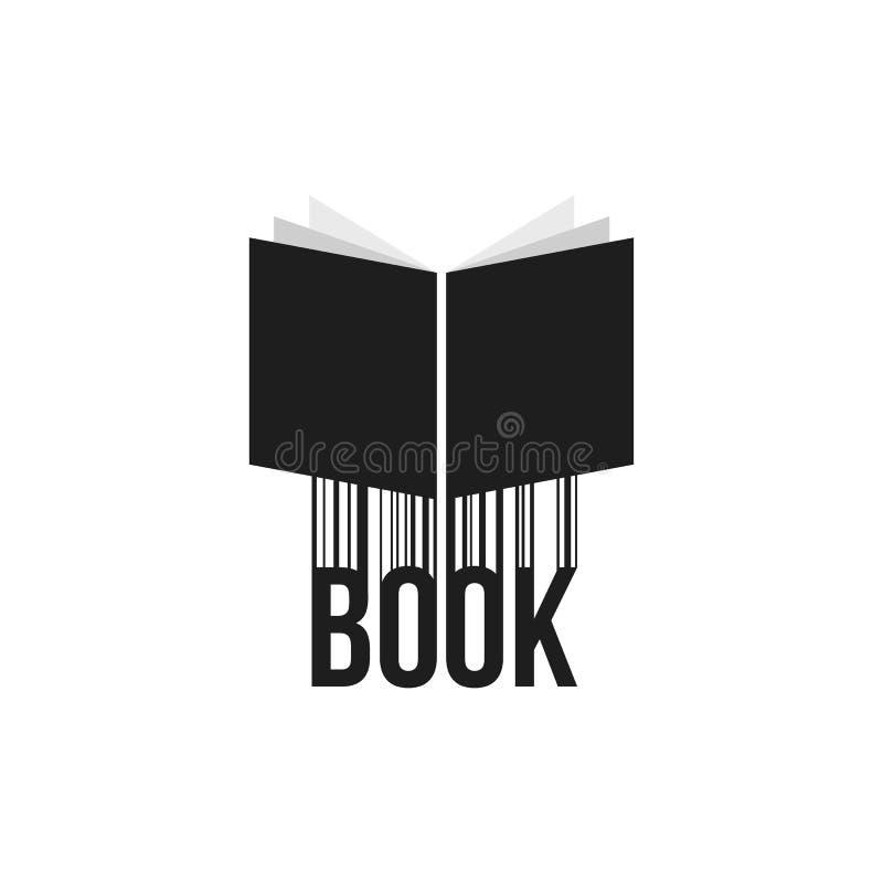 Icona semplice del libro nero con il codice a barre royalty illustrazione gratis