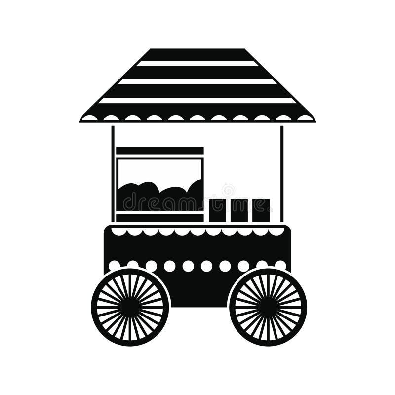 Icona semplice del nero del carretto del popcorn royalty illustrazione gratis