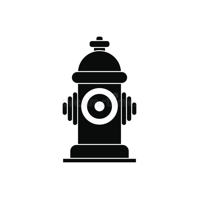 Icona semplice del nero dell'idrante antincendio illustrazione vettoriale