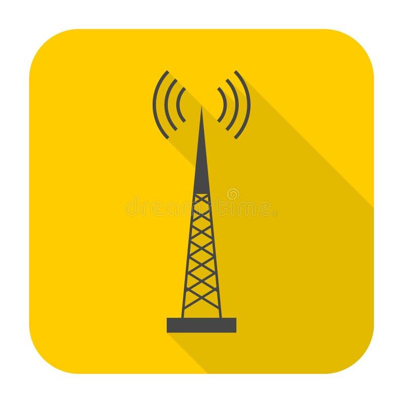 Icona semplice del trasmettitore con ombra lunga royalty illustrazione gratis
