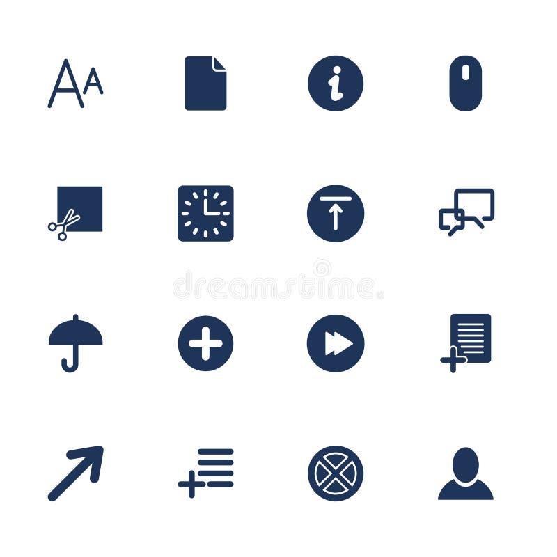 Icona semplice dell'insieme per il app, i programmi ed i siti illustrazione vettoriale