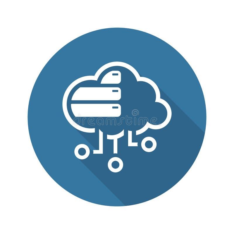 Icona semplice di vettore della base di dati della nuvola illustrazione vettoriale