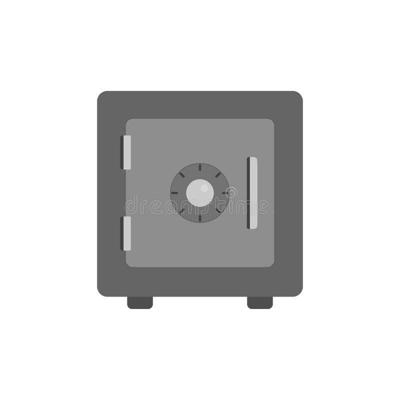 Icona sicura di vettore Cassaforte del metallo obbligazione Stile piano Illustrazione di vettore illustrazione di stock