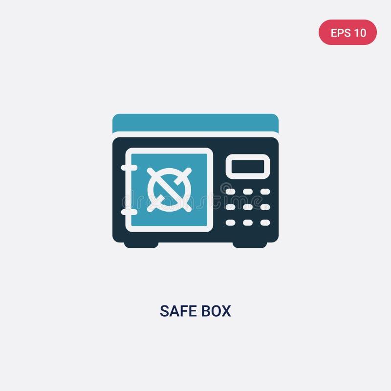 Icona sicura di vettore della scatola di due colori dal concetto di sicurezza il simbolo sicuro blu isolato del segno di vettore  illustrazione vettoriale
