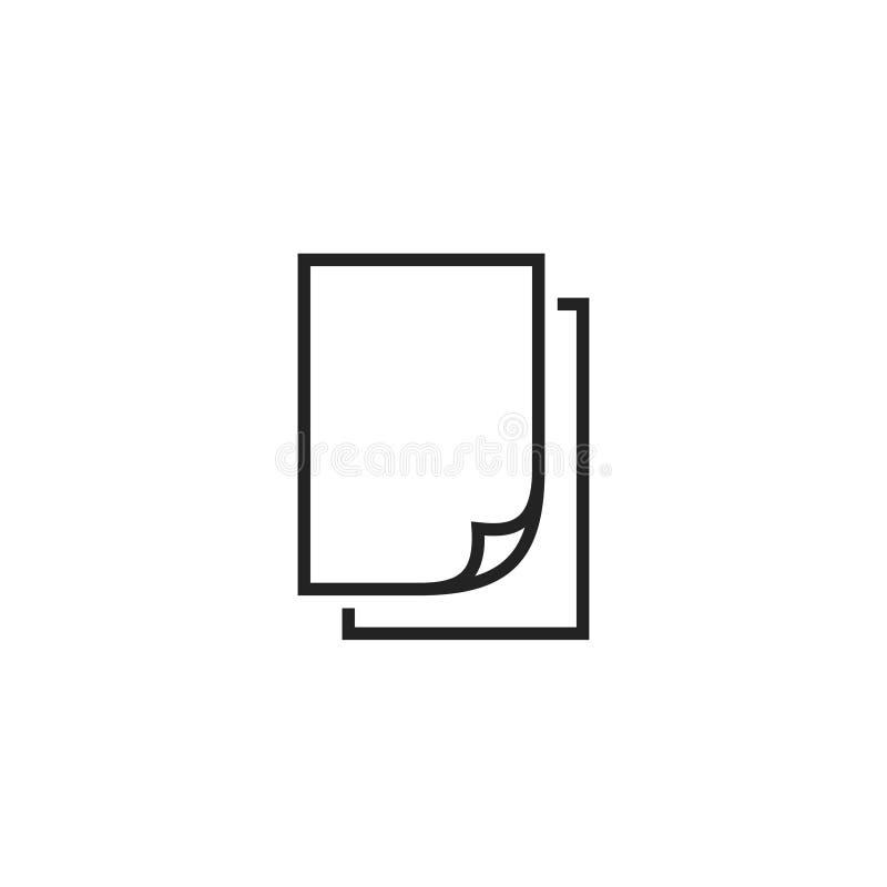 Icona, simbolo o logo di carta di vettore del profilo royalty illustrazione gratis