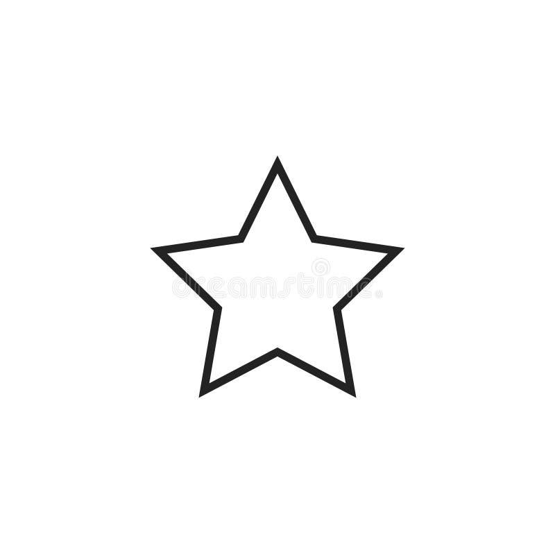 Icona, simbolo o logo di vettore del profilo della stella illustrazione di stock