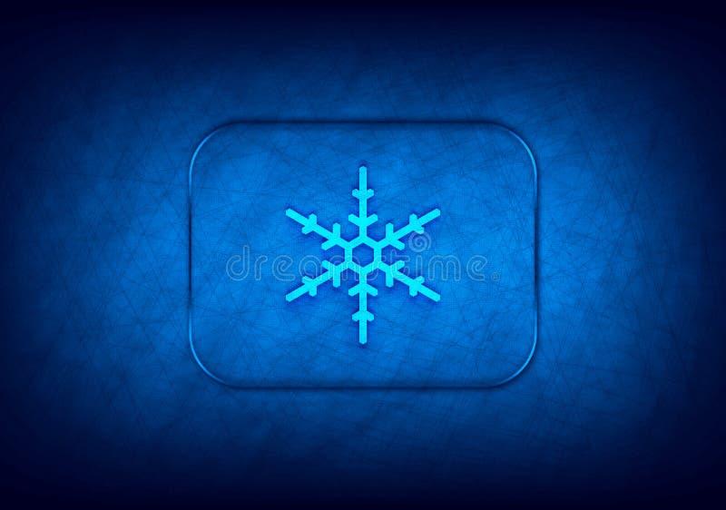 Icona Snowflake sfondo blu progettazione digitale astratta illustrazione vettoriale