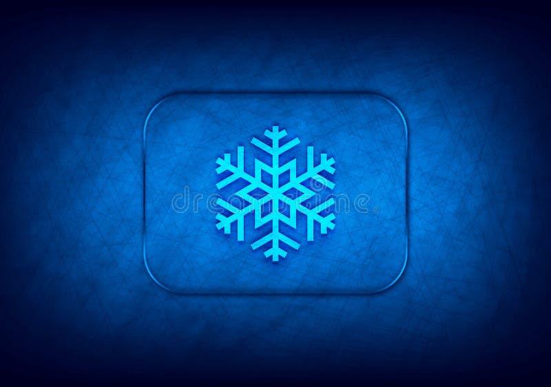 Icona Snowflake sfondo blu progettazione digitale astratta illustrazione di stock