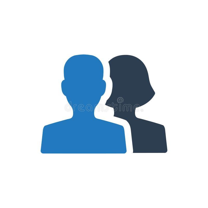 Icona sociale degli amici di media illustrazione di stock