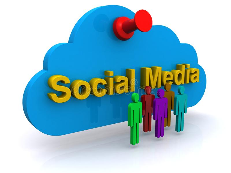 Icona sociale di web di media illustrazione di stock