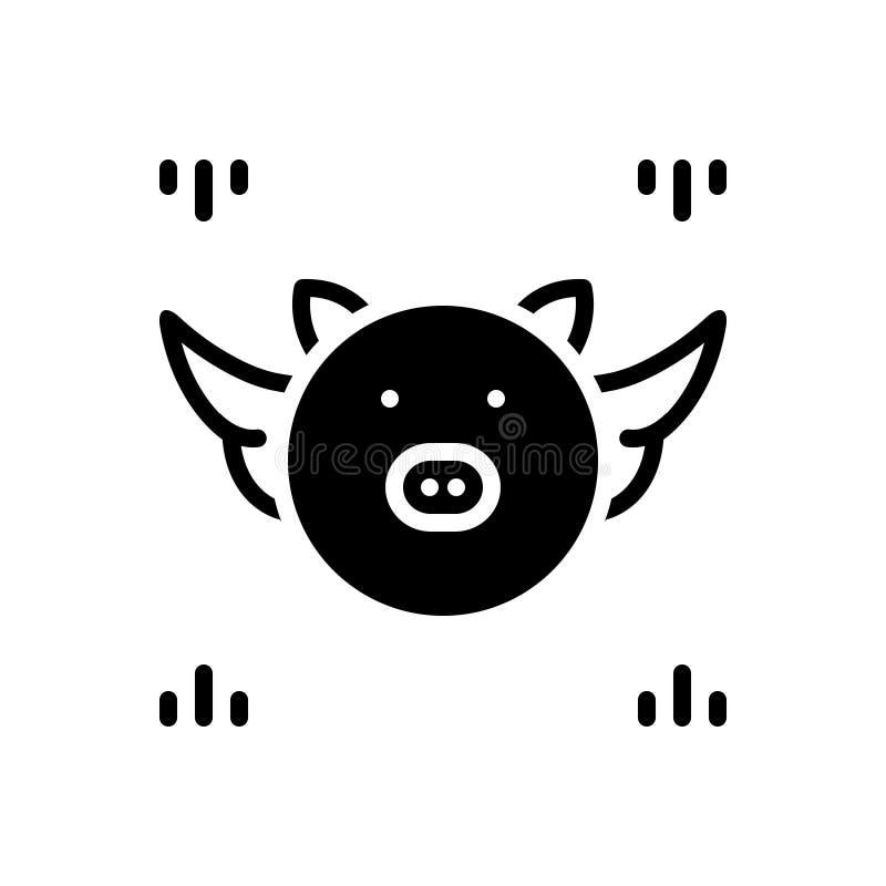 Icona solida nera per congetturale, il benessere e il emoji royalty illustrazione gratis