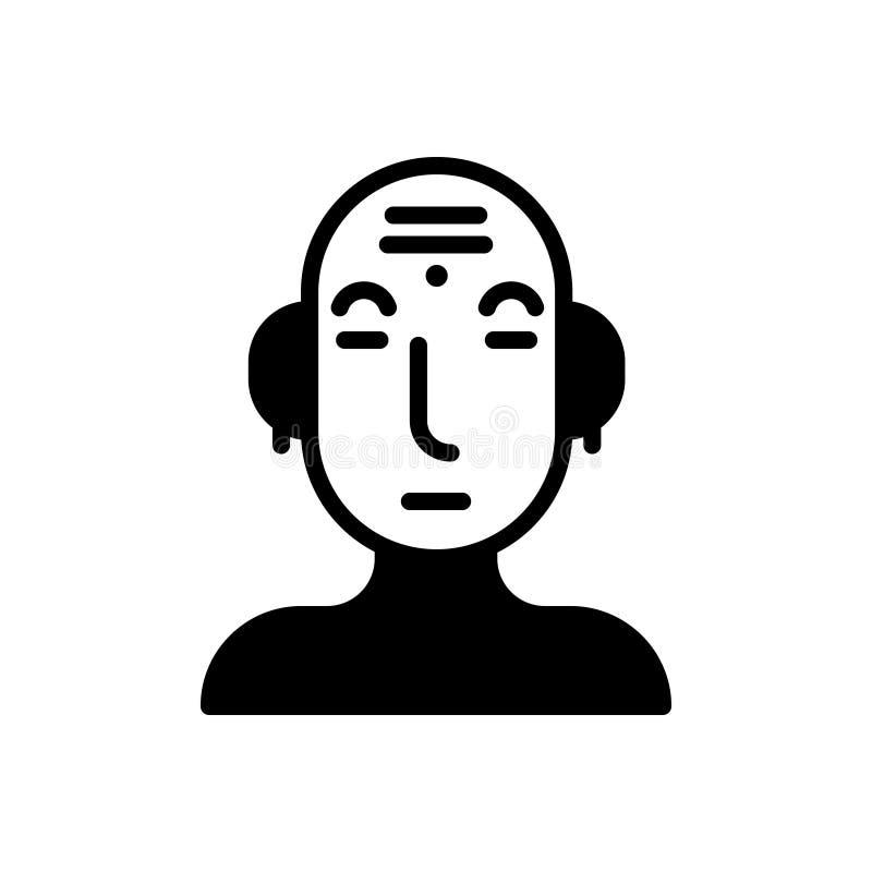 Icona solida nera per cultura, civilizzazione e tradizionale illustrazione di stock