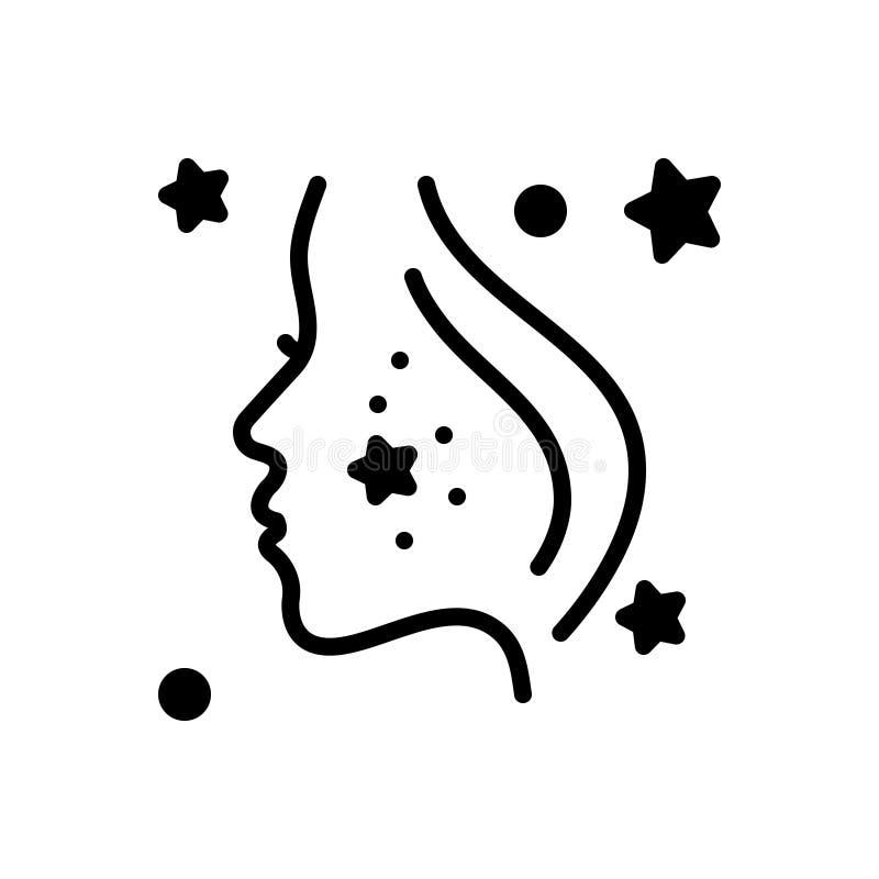 Icona solida nera per Derma, il fronte e la pelle royalty illustrazione gratis
