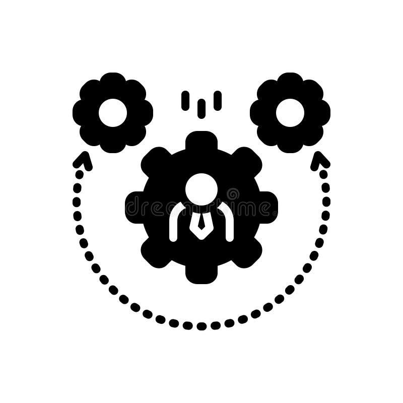 Icona solida nera per dinamismo, la regolazione e la ruota dentata royalty illustrazione gratis