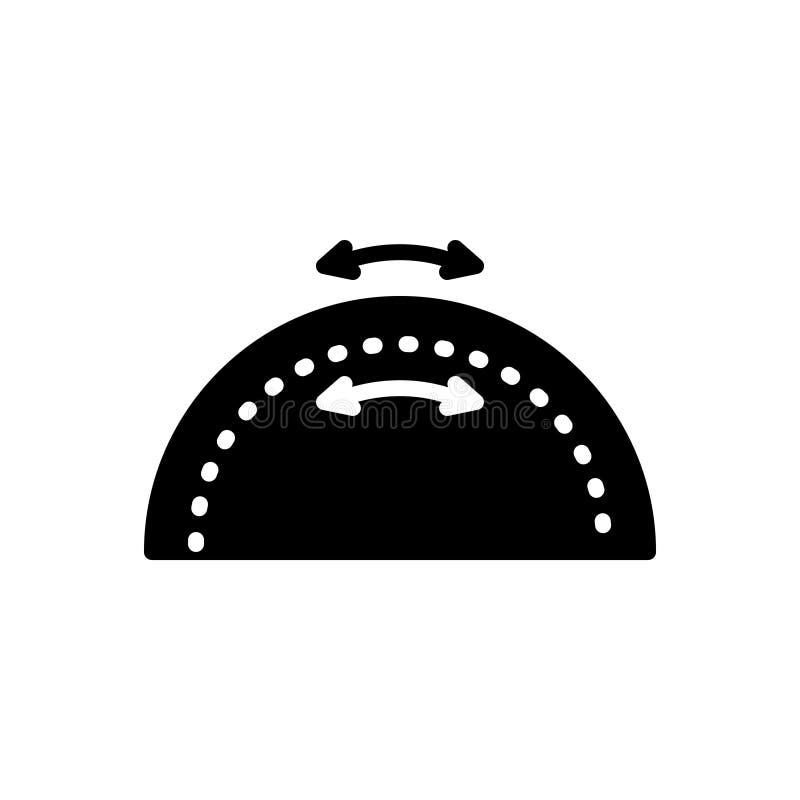 Icona solida nera per elasticità, flessibilità e duttilità royalty illustrazione gratis