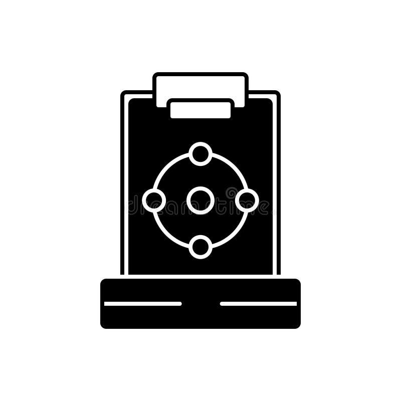 Icona solida nera per il piano, lo schema e l'idea illustrazione di stock