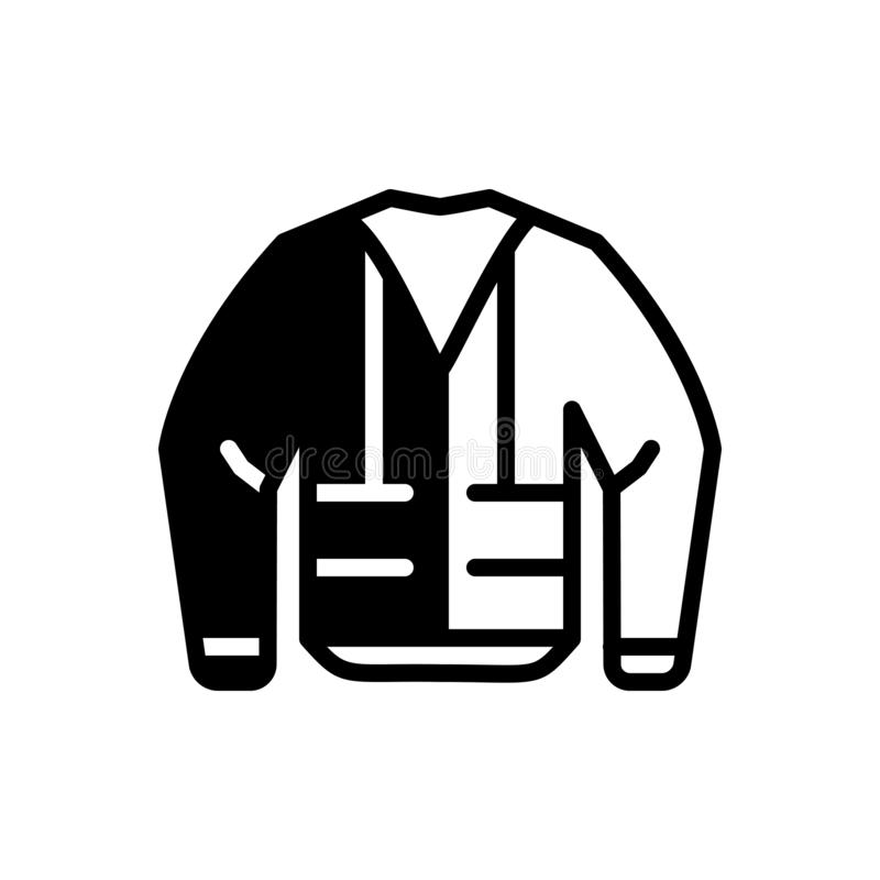 Icona solida nera per il rivestimento, la sicurezza e la protezione della costruzione royalty illustrazione gratis